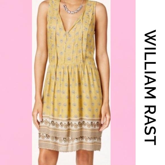 "William Rast Dresses & Skirts - WILLIAM RAST ""Devondra"" BoHo Mustard Dress Large"